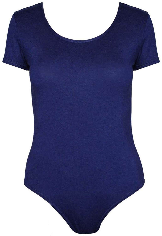 864cd5068b Get Quotations · Commencer Women s Basic Short Sleeve Snap Crotch Leotard  Bodysuit ...