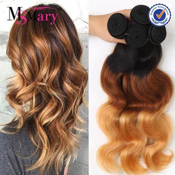 Peruvian Hair Bundles 3 Tone 1b 4 27 Color 100 Human Ombre Hair