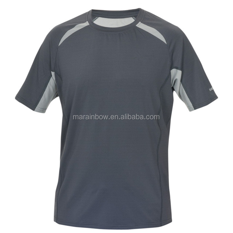 Running Active Tops Mens Quick Dry T-Shirt 100% Polyester Mesh Performance T Shirt Wholesale Blank Design Sports Tee