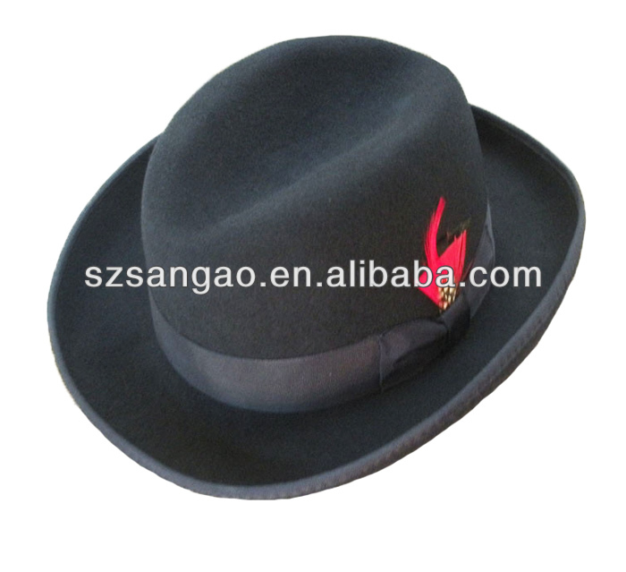 fashion Navy blue satin sleep cap in fedora for man and women and cheap