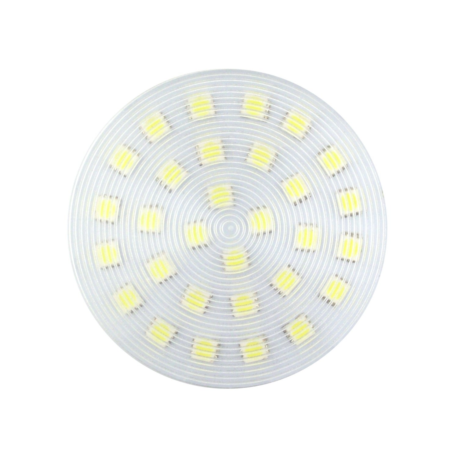 Bonlux Daylight 6000k Gx53 LED Bulb Ceiling Down Light Cabinet Lamp LED Puck Light for Gx53 CFL Bulb Replacement (7 Watts)