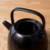 Japanese Style Large Black Color Pour Water Kettles Ceramic Teapot with Lid Custom Design