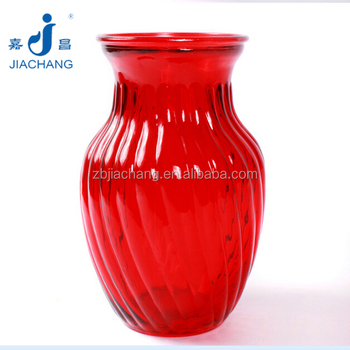12x205cm Large Red Glass Flower Vase Buy Large Flower Vasesred