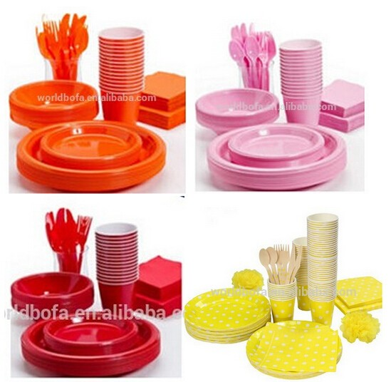 Children birthday party supplies disposable tableware set