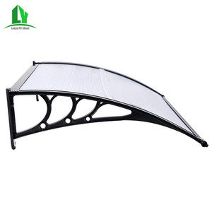 portable and easy assembly polycarbonate awnings for door and window cover