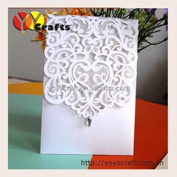 Latest Folded Arabic Laser Cut Wedding Invitation Cards Designs