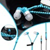 New 3.5mm In-Ear Metal Bass Zipper Earphones Sports Music Earbud Wired Headset With Mic