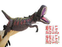 Wholesale lifelike hand puppet dinosaur toy for child