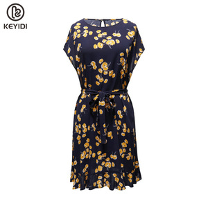 OEM KEYIDI Sexy V-neck Irregular High Waist women dresses casual