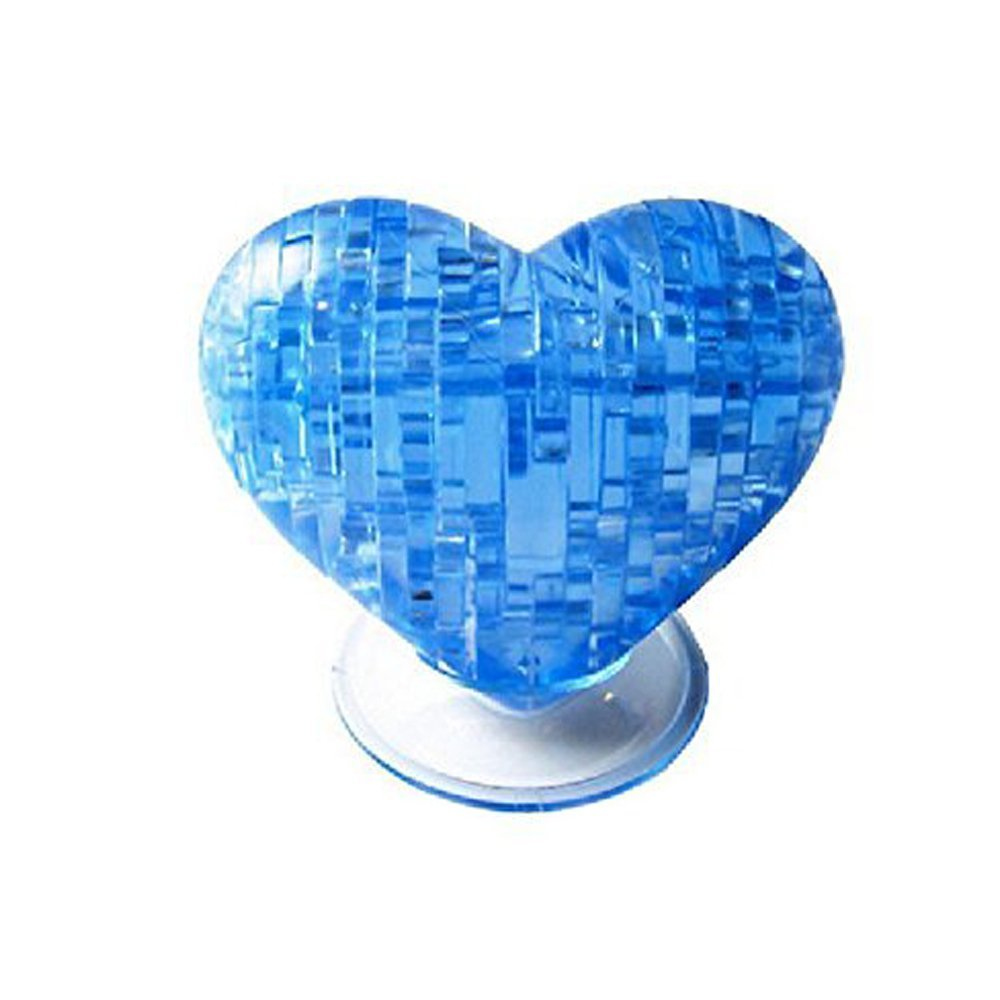 LUCKSTAR(TM) 3D Crystal Puzzle Jigsaw Model DIY Developing Assemble Toy (Blue Heart)