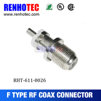 High Quality Automotive Straight Female Coaxial Cable Pal TV F Connector RG316