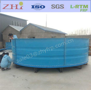 ID5.4M Large Round Fiberglass Fish Tanks Aquaculture Farm