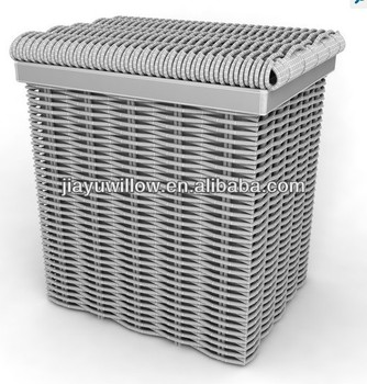 Gray Grey Square Large Wicker Laundry