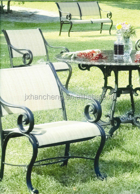 Moderno dise o de muebles de jard n de aluminio fundido al for Diseno de muebles de jardin al aire libre