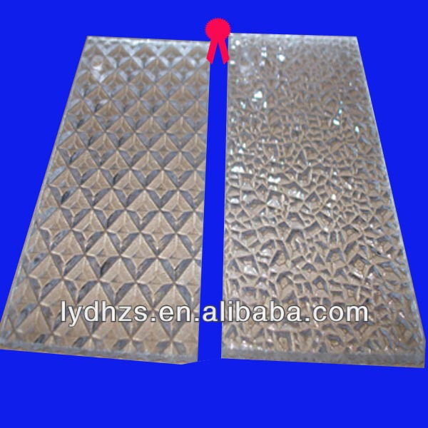 clear patterned/embossed ps plastic sheet