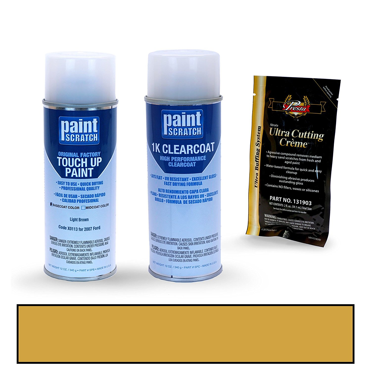 Get Quotations 2007 Ford F Series Light Brown X0113 Touch Up Paint Spray Can Kit By Paintscratch