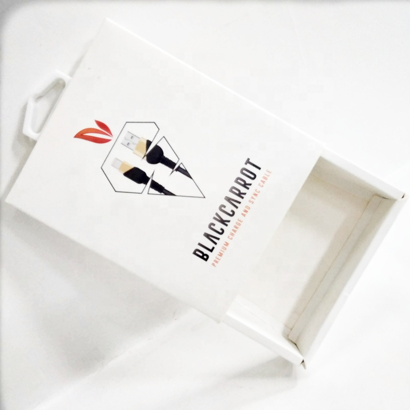 Custom Cardboard Paper Gift Box for USB Cable Packaging