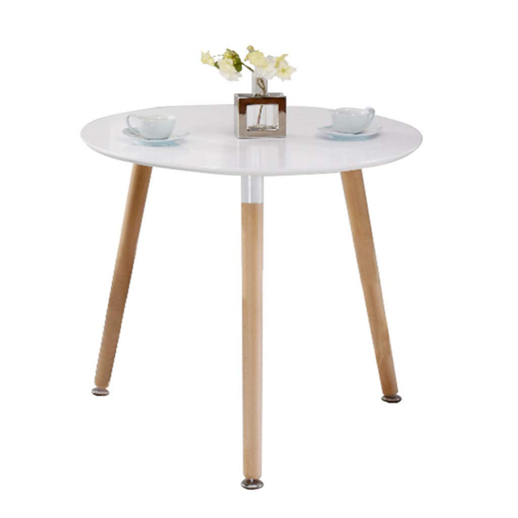 Coffee Tables Dining Table Dining Table Small Table Balcony Tatami Small Round Table (Color : White, Size : 606072cm)