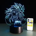 Dragon ball z super saiyan 3 goku action figures 3d table lamp 2016 New 7 color