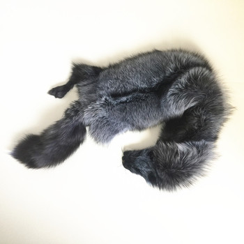 Factory sales good quality soft silver fox skin 85-95cm