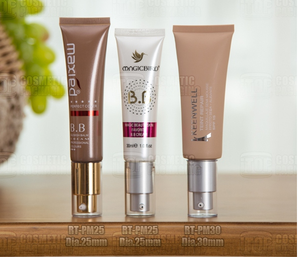 Professional 30ml cosmetic aluminum packaging tube BB cream foundation tube with airless pump for beauty