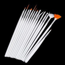 Hot sale Cheapest Professional 15-in-1 White Color Makeup Art Design marten hair Polish Painting Nail Brush Pen Set for Nail art
