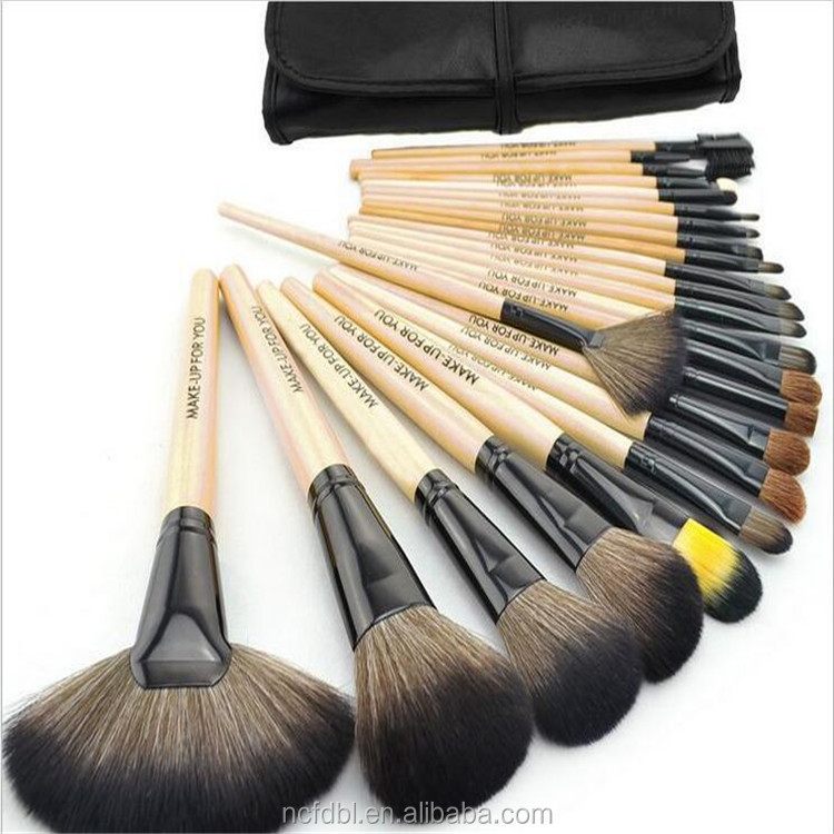 High quality makeup <strong>brushes</strong> with nylon hairs 24pcs