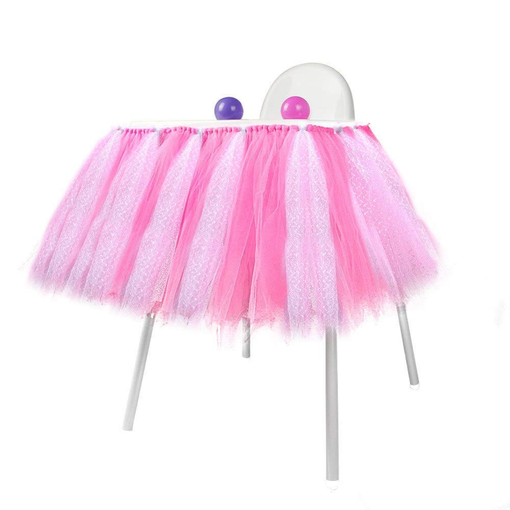 69a73dbd1 Get Quotations · 39x13 Inch Tulle Table Skirts for Round Tables - Tulle  Table Skirts for Rectangle Tables -