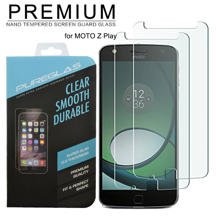 Bubble free no air mobile phone glass screen protector for MOTO Z Play