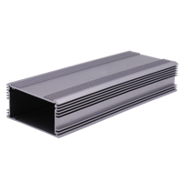 Silver anodized custom cutouts cnc machined extruded aluminum electronic pcb housing box, aluminum casing, aluminum extrusions