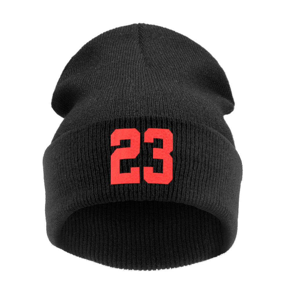 74b235cb3c58e 3 Colors New 23 Printed Beanies for Men Winter Hats For Women Fashion  Popular Letters Knitted