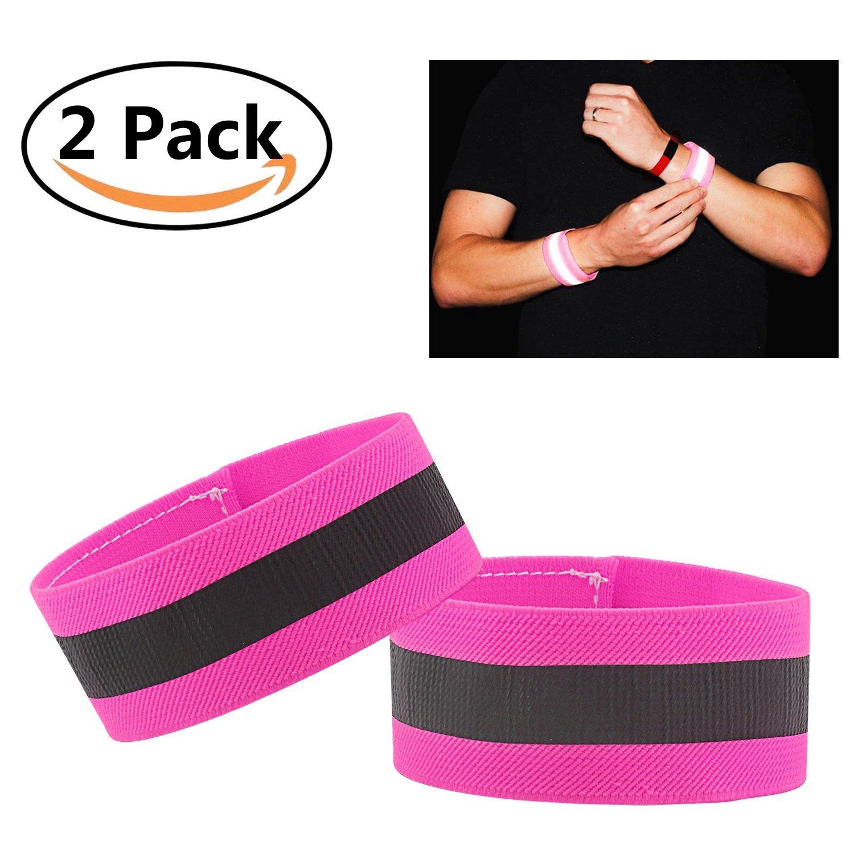 Mosany 5 Pack or 2 Pack LED Sports Armband Flashing Safety Light LED Wristband Belt Ankle Band LED Slap Armband Glow Bracelet High Visibility Gear for Running Cycling or Walking at Night