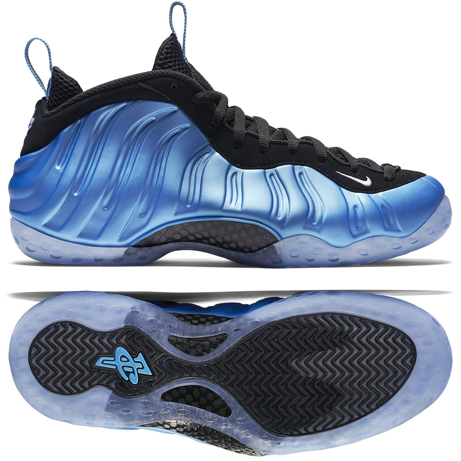 uk availability ec236 46935 Get Quotations · Nike Air Foamposite One 314996-402 University  Blue White Black Men s Shoes