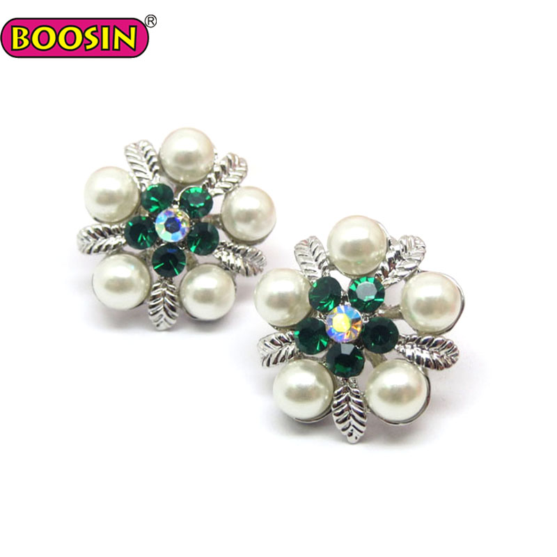 Fashion olive leaf imitation pearl earring jewelry wholesale #22082