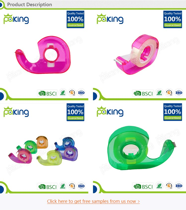 alibaba supplier single side colorful mini tape dispenser for office use