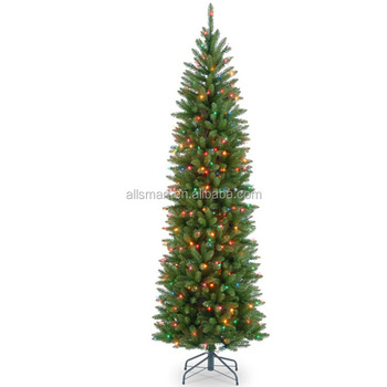 Hot Sale 7 5 Foot Pre Lit Pencil Christmas Tree With Led Slim Xmas Tree Buy Pencil Christmas Tree Slim Christmas Tree Pre Lit Xmas Tree Product On