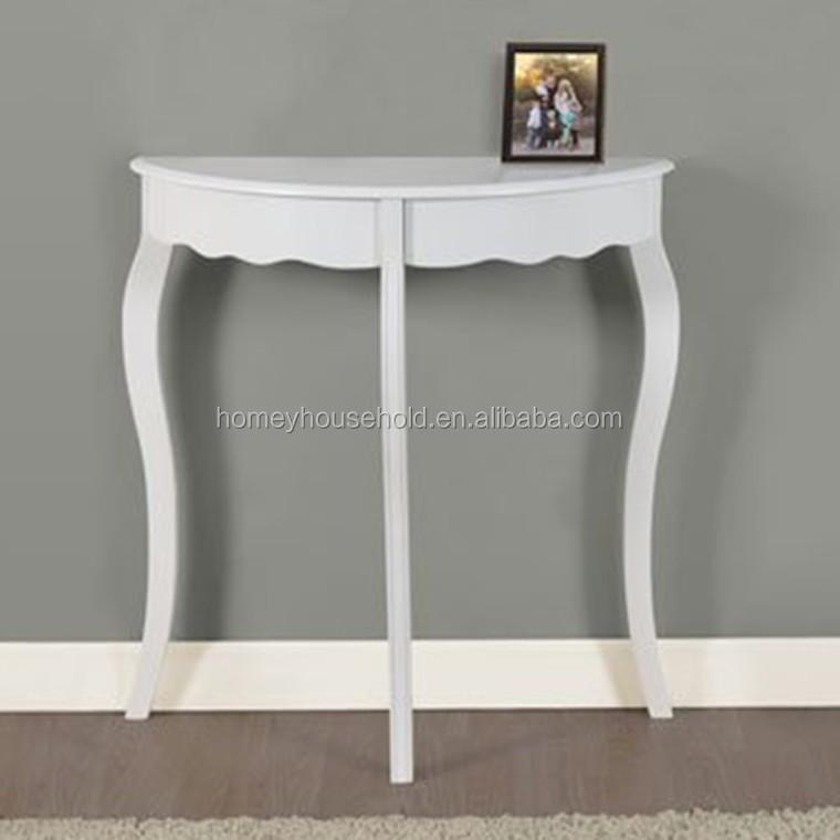 Verontruste console hal tafel teruggewonnen houten meubelen grenen half ronde tafel houten - Console ingang kast lade ...
