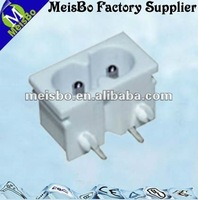 Mini male electrical outlet car adapter with two pin