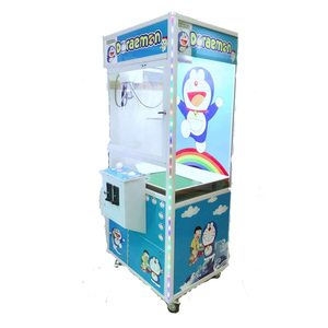 Color turning coin operated arcade crane claw machine for sale crane game machine