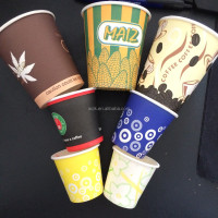 Well Coffee and tea16oz 470ml disposable single wall paper coffee cup, thick wall coffee cups