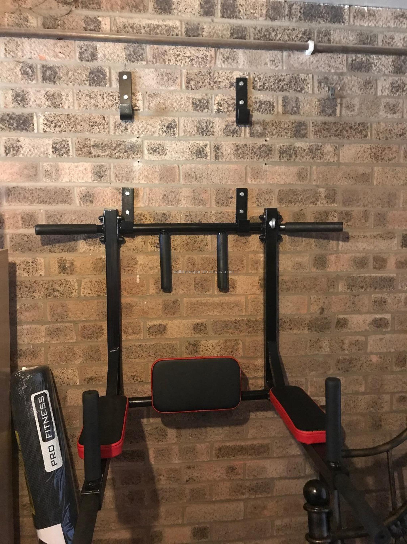 Wellshow Sport Chin Up Bar Wall Mounted Pull Up Bar Dip