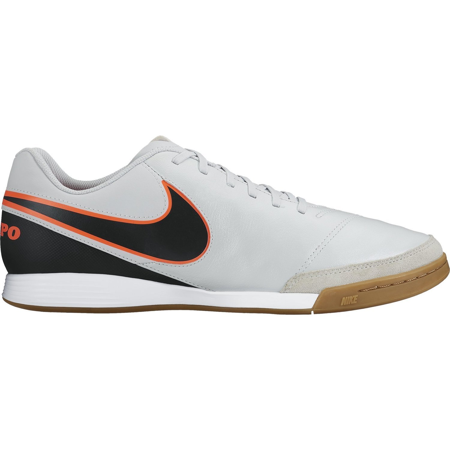 296e901964a Get Quotations · Nike TIEMPO GENIO II LEATHER IC Mens Grey Black Athletic Indoor  Soccer Shoes (Pure Platinum