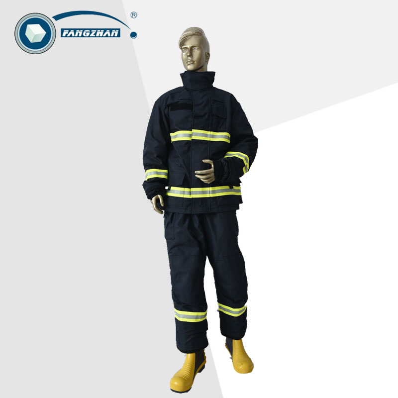 EN 469 Fireman rescue gear/ Firefighting suit/ Fire approach clothing best price