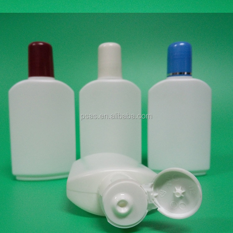 HDPE screw type square plastic body lotion bottle face cream bottle