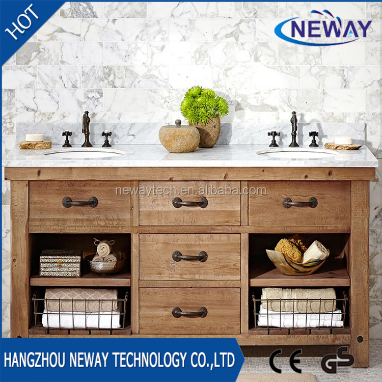 High quality luxury antique bathroom furniture with double sink