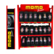 customized logo and color 3 layers 24 tyres metal knock down shelf tire display rack