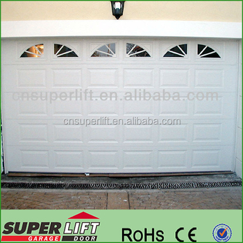 Residental Luxury Sectional Garage Door Window Inserts