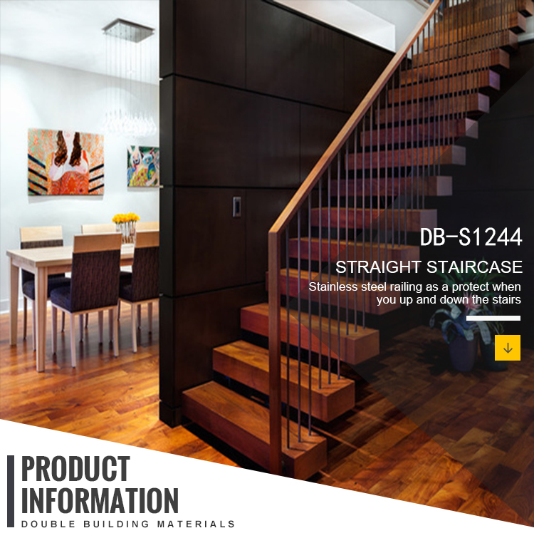 Indoor Modern Cable Stair Railing Hide Stringer Wood Floating Staircase    Buy Wood Floating Staircase,Customize Staircase,Wood Straight Staircase ...
