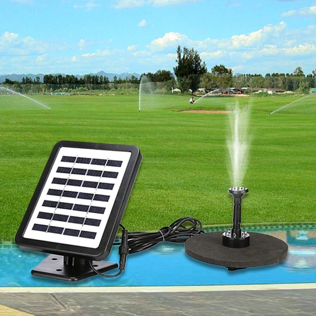 Solar Fountain Pump Bird Bath,NXDA Outdoor Solar Powered Bird Bath Water Fountain Pump With LED for Bird Bath Pond Garden (Black)