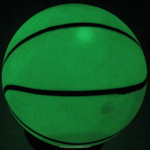 Rubber colorful transparent Basketball size 1,glow in the dark.noctilucence